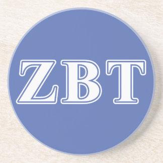 Lettres blanches et bleues de bêta Tau de Zeta Dessous De Verre