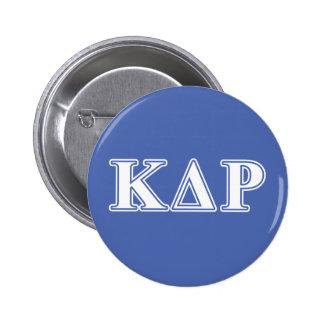 Lettres blanches et bleues de thêta de Kappa de Pin's