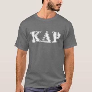 Lettres blanches et bleues de thêta de Kappa de T-shirt