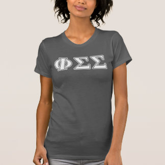 Lettres blanches et jaunes de sigma de sigma de t-shirt