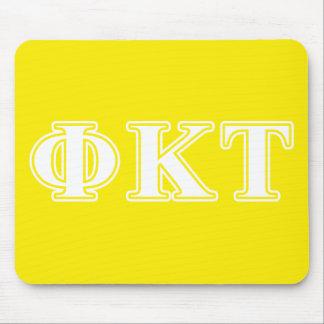 Lettres blanches et jaunes de Tau de Kappa de phi Tapis De Souris