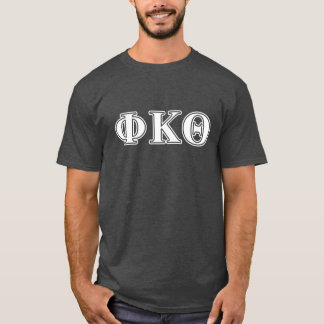 Lettres blanches et jaunes de thêta de Kappa de T-shirt