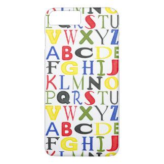 Lettres brillamment colorées par Megan Meagher Coque iPhone 8 Plus/7 Plus