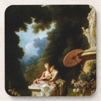 Lettres d'amour par Jean Honore Fragonard Sous-bock