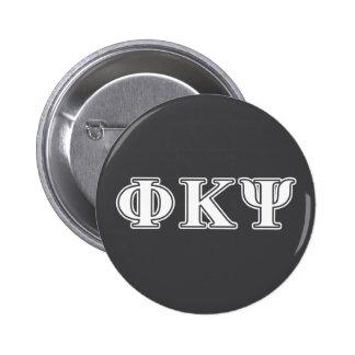 Lettres de blanc de livre par pouce carré de Kappa Badge