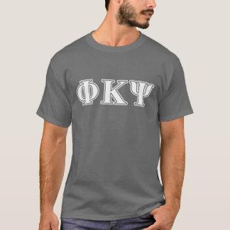 Lettres de blanc de livre par pouce carré de Kappa T-shirt