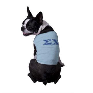 Lettres de bleu de Chi de sigma T-shirt Pour Chien