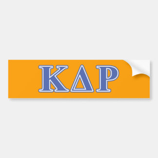 Lettres de bleu de thêta de Kappa de phi Autocollant Pour Voiture
