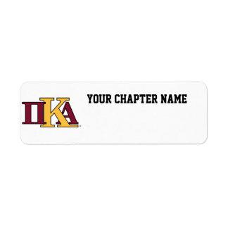 Lettres de PKA Étiquettes D'adresse Retour