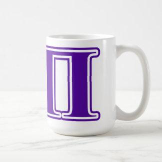 Lettres de pourpre du sigma pi mug