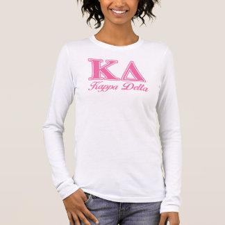 Lettres de rose de delta de Kappa T-shirt À Manches Longues