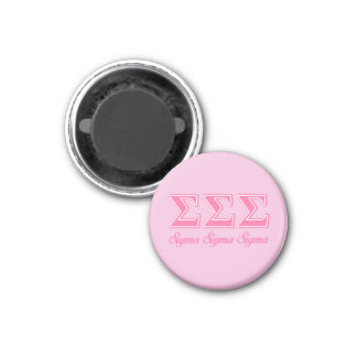 Lettres de rose de sigma de sigma de sigma magnet carré 2,50 cm