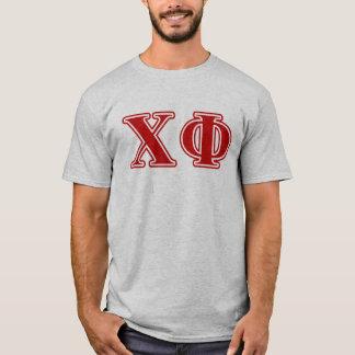 Lettres de rouge de phi de Chi T-shirt