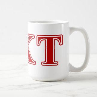 Lettres de rouge de Tau de Kappa de phi Mug