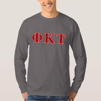 Lettres de rouge de Tau de Kappa de phi T-shirt