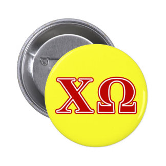 Lettres de rouge d'Omega de Chi Badge
