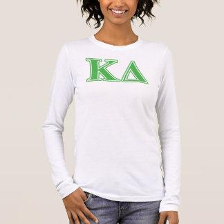 Lettres de vert de delta de Kappa T-shirt À Manches Longues
