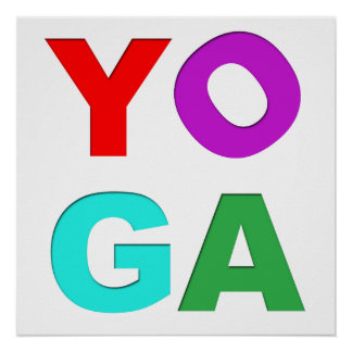 Lettres de yoga poster