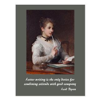 Lettres d'écriture cartes postales