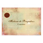 Lettres des cartes de visite élégants de manuscrit carte de visite