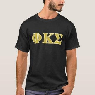Lettres d'or de sigma de Kappa de phi T-shirt
