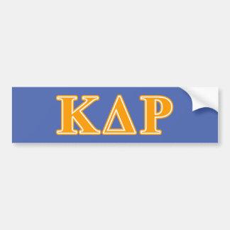 Lettres d'orange de thêta de Kappa de phi Autocollant Pour Voiture