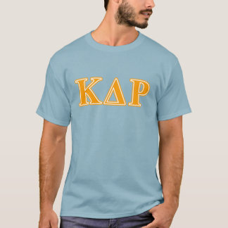Lettres d'orange de thêta de Kappa de phi T-shirt