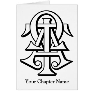 Lettres enclenchées par Omega de Tau d'alpha Cartes De Vœux