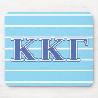 Lettres gamma de bleu royal de Kappa de Kappa Tapis De Souris