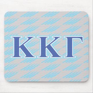 Lettres gamma de bleu royal et de bleus layette de tapis de souris