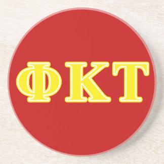 Lettres jaunes de Tau de Kappa de phi Dessous De Verre