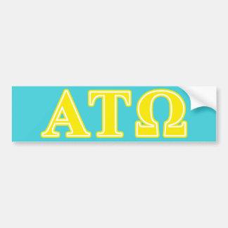 Lettres jaunes de Tau Omega d'alpha Autocollant Pour Voiture
