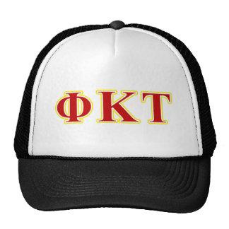 Lettres jaunes et rouges de Tau de Kappa de phi Casquette Trucker