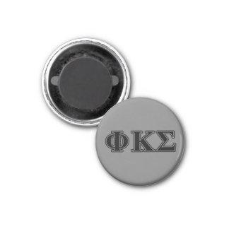 Lettres noires 2 de sigma de Kappa de phi Magnet Carré 2,50 Cm