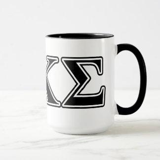 Lettres noires 2 de sigma de Kappa de phi Mugs