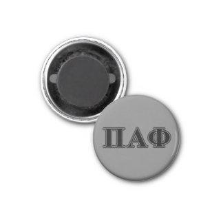 Lettres noires d'alpha phi de pi magnet carré 2,50 cm