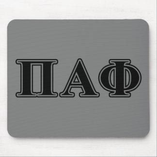 Lettres noires d'alpha phi de pi tapis de souris