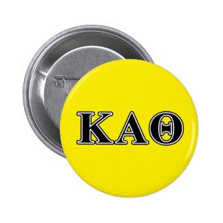 Lettres noires d'alpha thêta de Kappa Badges
