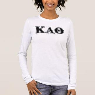 Lettres noires d'alpha thêta de Kappa T-shirt À Manches Longues