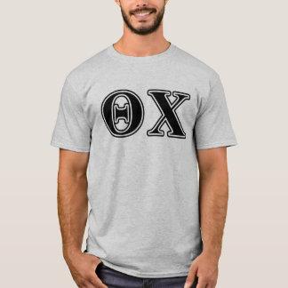 Lettres noires de Chi de thêta T-shirt