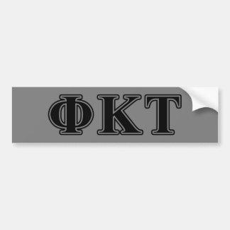 Lettres noires de Tau de Kappa de phi Autocollant Pour Voiture