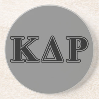 Lettres noires de thêta de Kappa de phi Dessous De Verres
