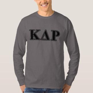 Lettres noires de thêta de Kappa de phi T-shirt