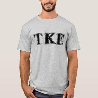 Lettres noires epsilon de Kappa de Tau T-shirt