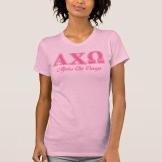 Lettres roses d'Omega de Chi d'Alphi T-shirt