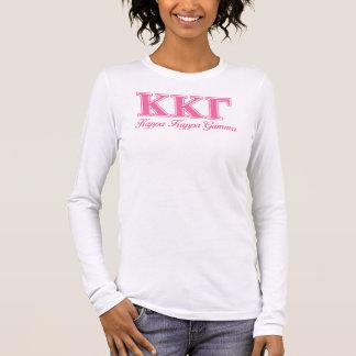 Lettres roses gamma de Kappa de Kappa T-shirt À Manches Longues