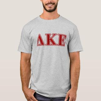 Lettres rouges epsilon de Kappa de delta T-shirt