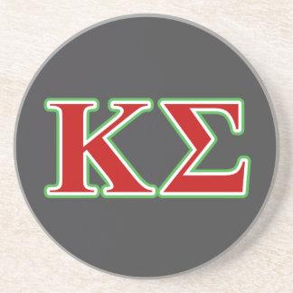 Lettres rouges et vertes de sigma de Kappa Dessous De Verre