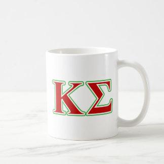 Lettres rouges et vertes de sigma de Kappa Mug