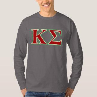 Lettres rouges et vertes de sigma de Kappa T-shirt